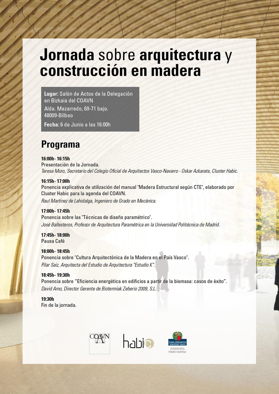 JORNADA SOBRE ARQUITECTURA Y CONSTRUCCIÓN EN MADERA